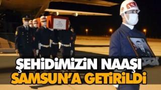 ŞEHİDİMİZİN NAAŞI SAMSUN'A GETİRİLDİ