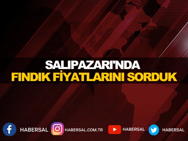 SALIPAZARI'NDA FINDIK FİYATLARINI SORDUK